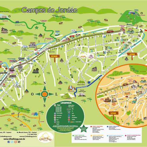 Mapa Turístico de Campos do Jordão (para Citimaps)