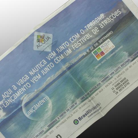 Anúncio Jornal Acqua Ibiúna