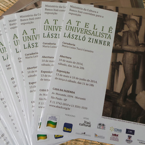Folder Exposição Ateliê Universalista