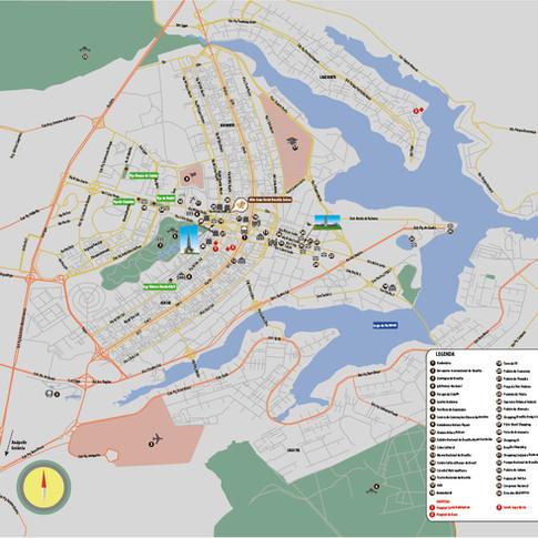Mapa personalizado de Brasília (para Citimaps)