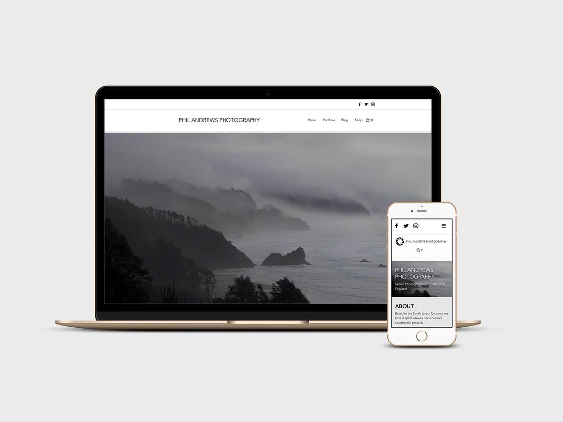 Website design for local photographer - Phil Andrews