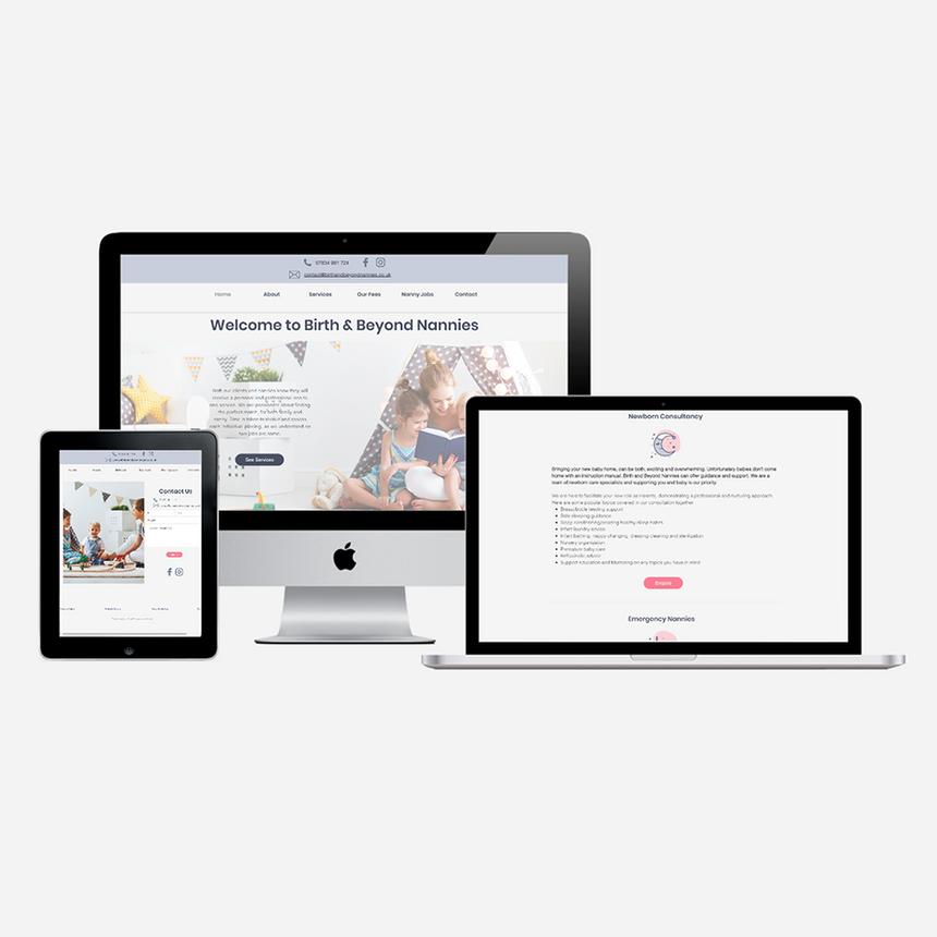 Website for Birth & Beyond Nannies