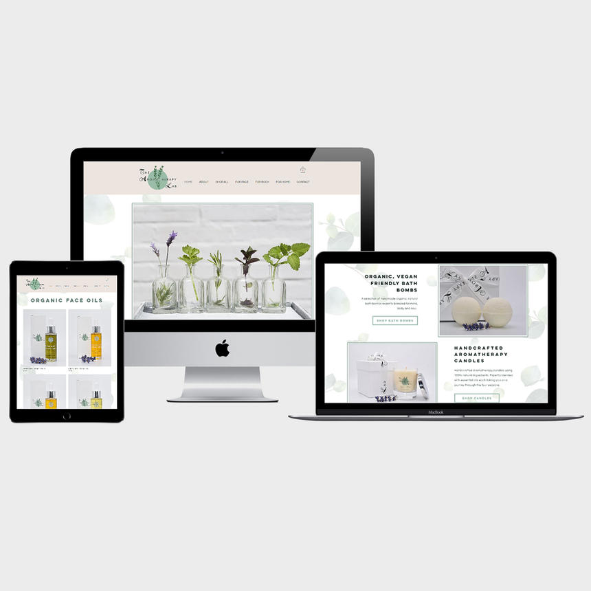 Website for The Aromatherapy Lab