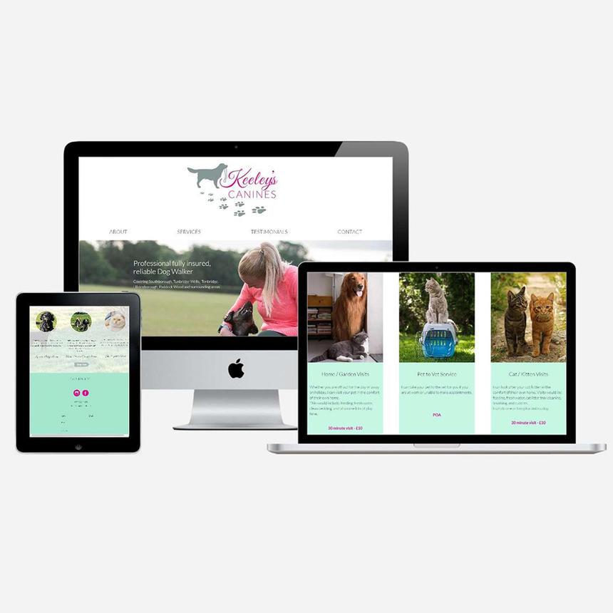 Website Design for Keeley's Canines
