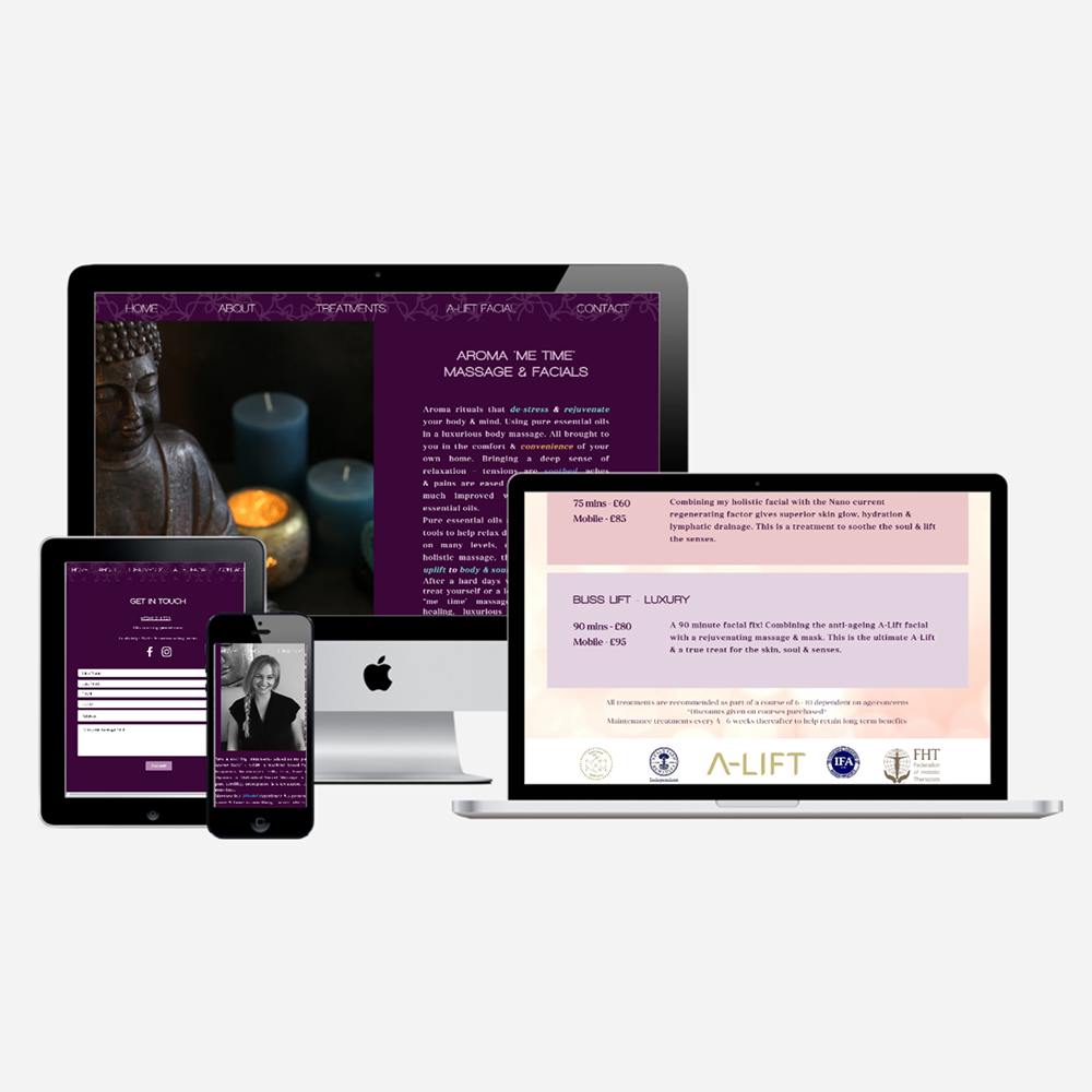 Website design for Bliss Massage Spa