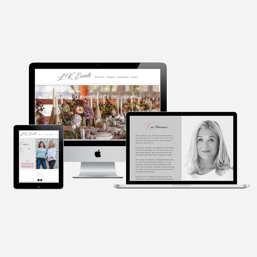 Website design for LK Events