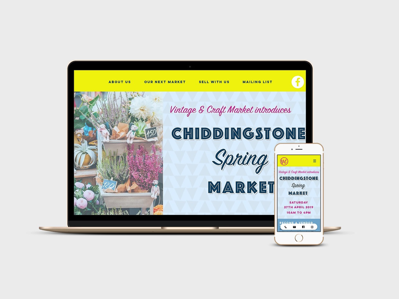 Website design for the South East Vintage & Craft Market