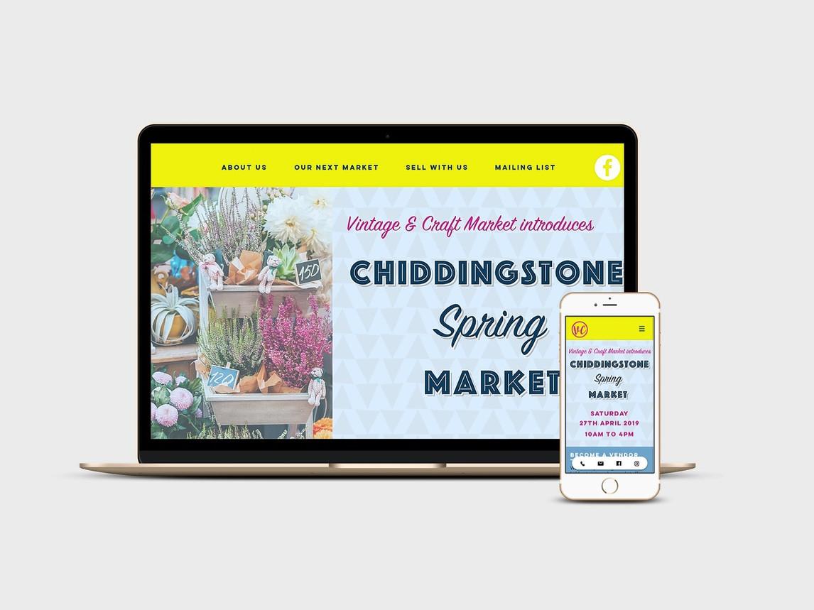 Website design for the South East Vintage & Craft Market
