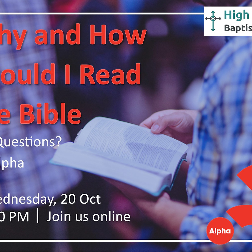 ALPHA Course:  How and Why Should I Read the Bible?