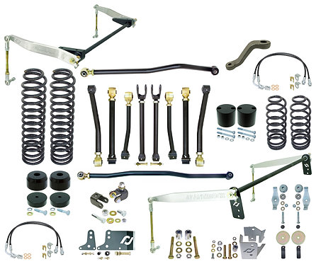 "CE-9808JCE - JK 2D Johnny Joint® 4"" Suspension System (w/ F&R Antirocks w/ Alumi"