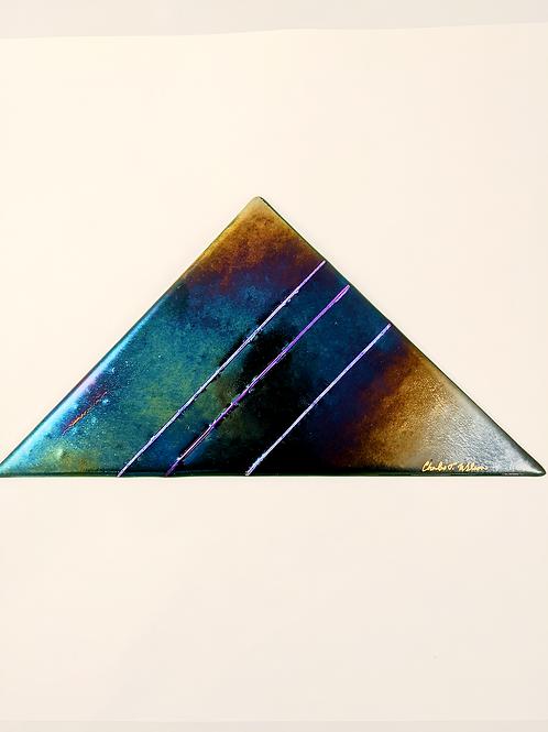 Triangle Green Irid w/ Purple Dichro