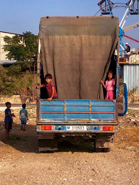 Syrian refugees in northern Lebanon