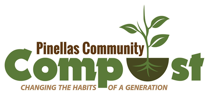 Pinellas Community Compost logo glow out