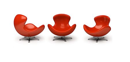 drei rote Sessel systemsiche Familientherapie, Familienberatung