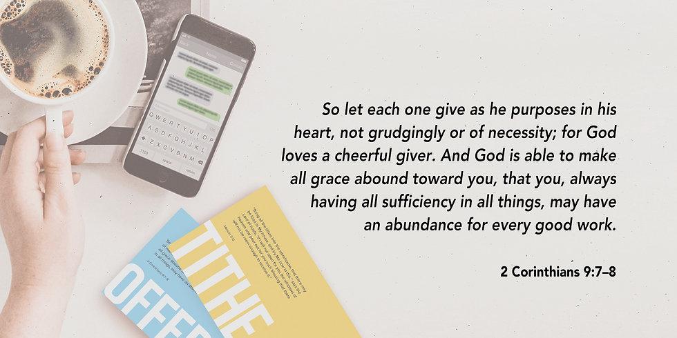 2  Corinthians 9:7-8 Text