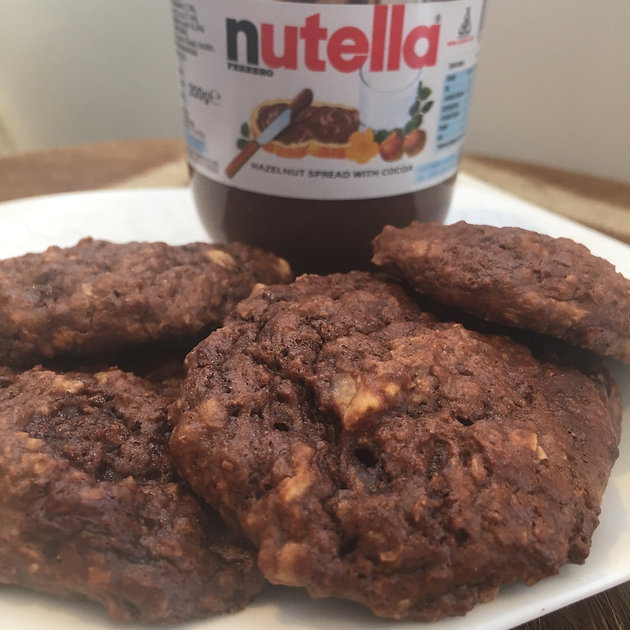 Quick Banana-Nutella Cookies | girlgainz