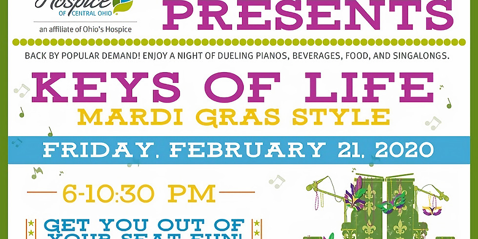 Hospice of Central OH Keys of Life Mardi Gras Style