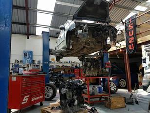 Worskhop. Ramp. CAS Motor Services Ledbury Hereford