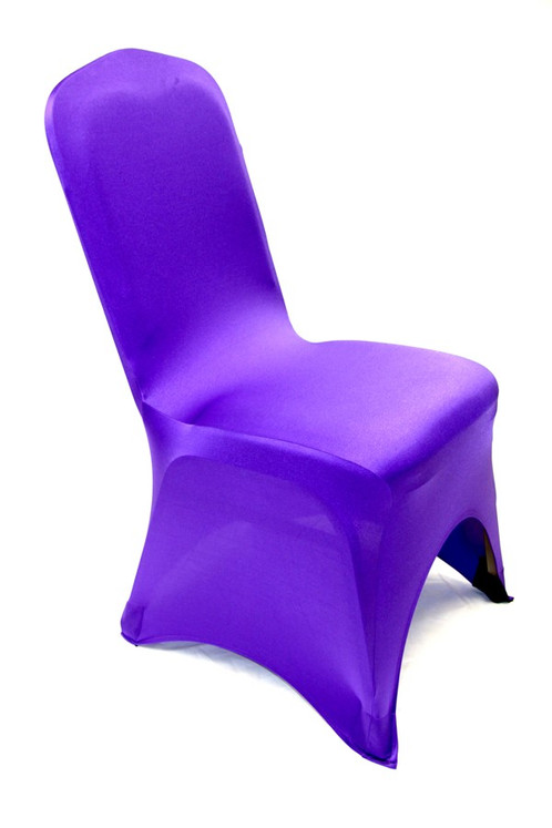 purple spandex chair covers