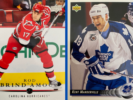ALMOST A COUGAR: Rod Brind'Amour and Kent Manderville