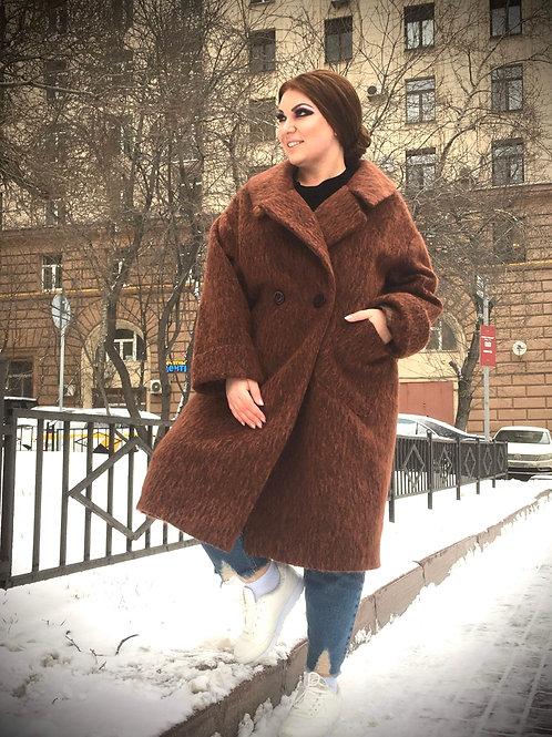 пальто дизайнерское из мохера