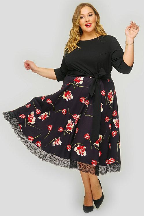 платье с пышной юбкой большого размера