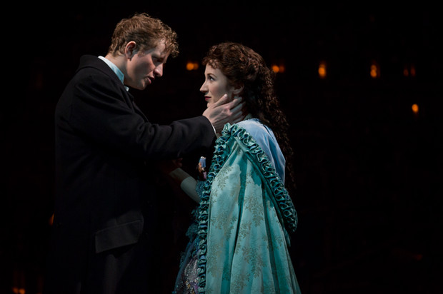 As Christine Daaé with Jeremy Hayes at Raoul.