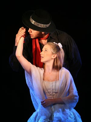 As Louisa with Burke Moses as El Gallo