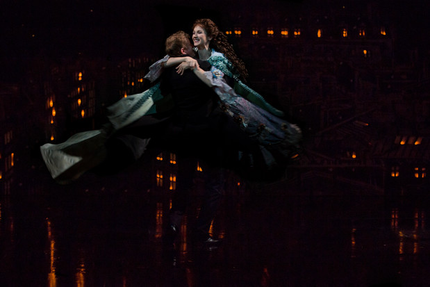 As Christine Daaé with Jeremy Hayes as Raoul.