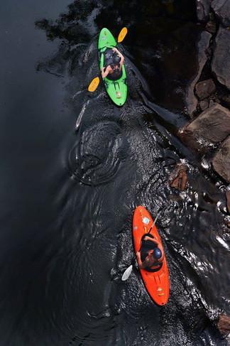 Kayakers  New River, WV