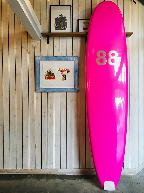 88surfbords 8'0 Pink white/NO FIN