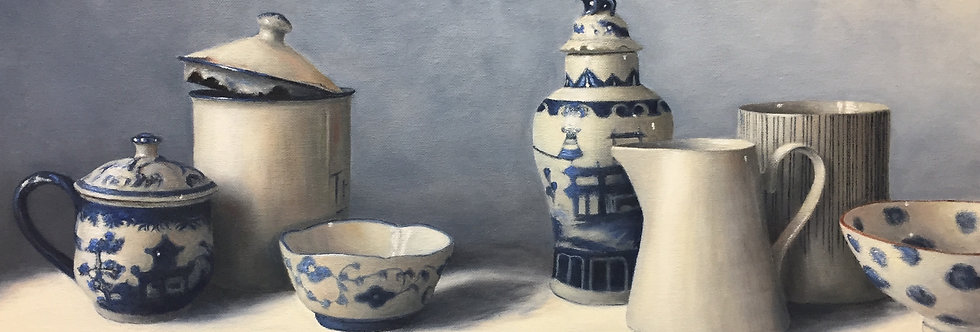 Blue & White Ginger Jar and Friends