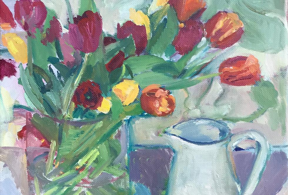 Tulips with Scissors