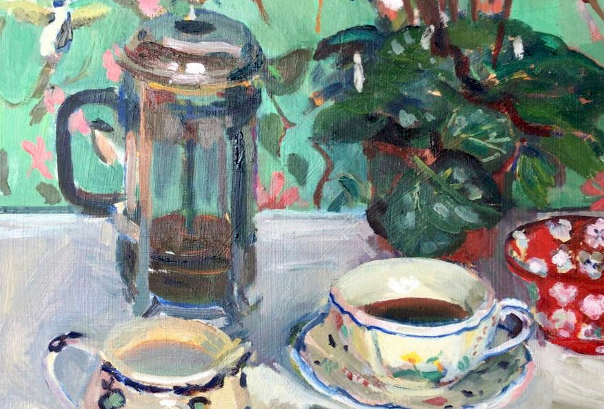 French Coffee Cup & Jug