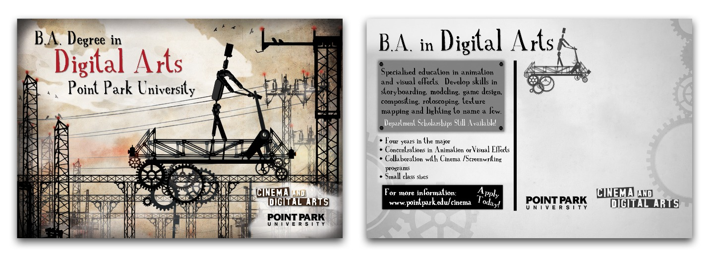 Digital Arts Program Promo Post-Card