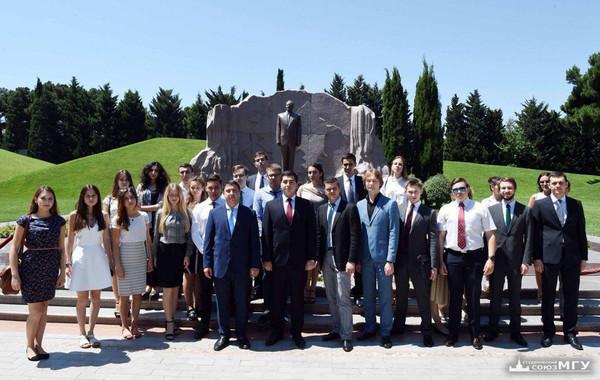 Студенты МГУ побывали в Азербайджане по приглашению Лейлы Алиевой. День 1