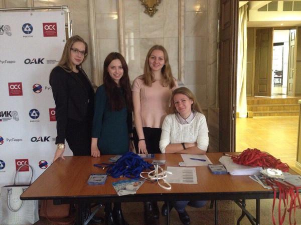 Наши волонтеры на Всероссийском инженерном конкурсе
