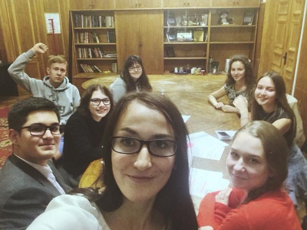 Заседание Французского клуба Международного центра Студенческого Союза МГУ