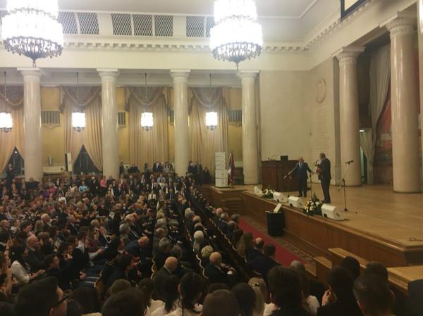 Наши волонтеры на торжественном мероприятии в честь 261-го дня рождения МГУ