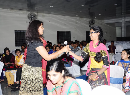 Engaging with Students at the KGI College in Bangalore, India.