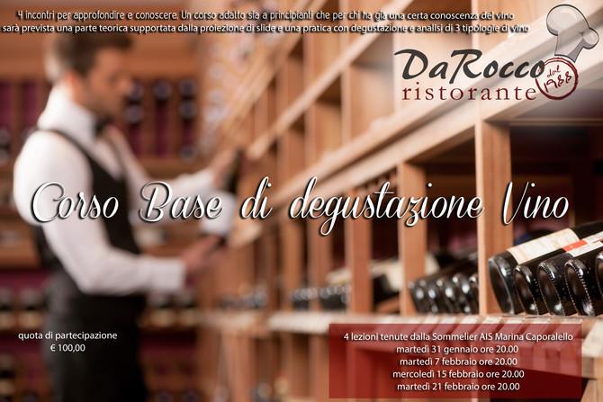 Corso di degustazione vino gennaio/febbraio 2017