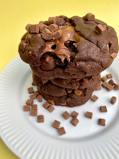 Double Chocolate Nutella Stuffed Cookies - Box of 5