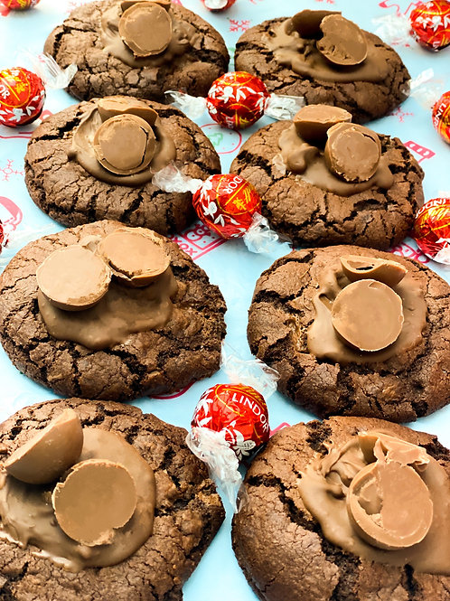 Milk Lindor Double Chocolate Stuffed Cookies - Box of 8