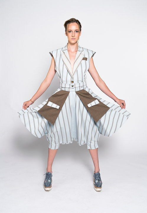 High Waist Paperbag Baggy Pants