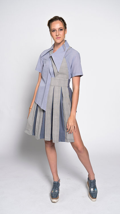 Apron Box Pleated Suspender Skirt