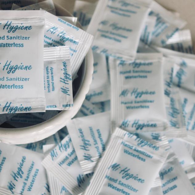 Mi Hygiene: Hand Sanitizer Sachets