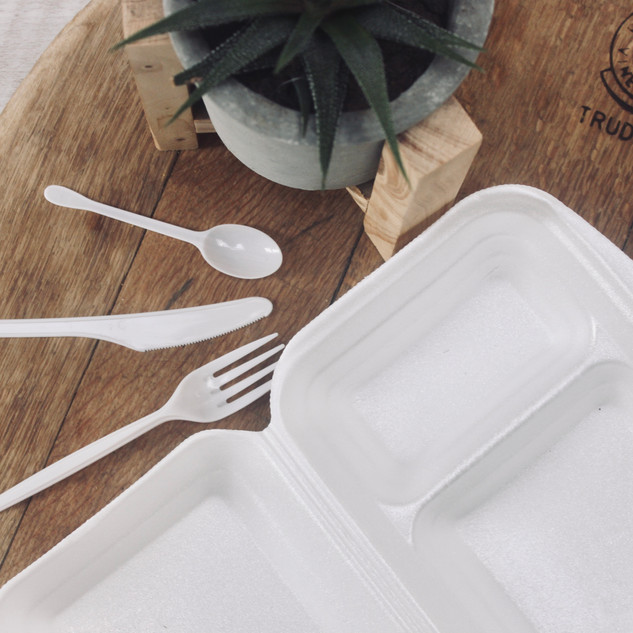 Plastic Utensils and takeaway containers