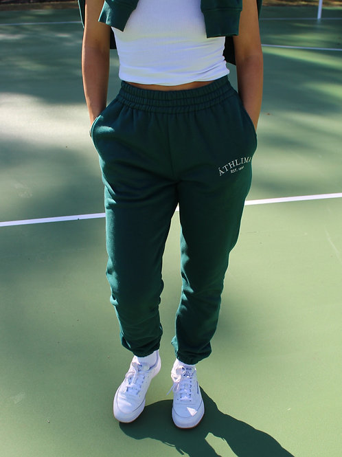 FOREST GREEN SWEATPANTS