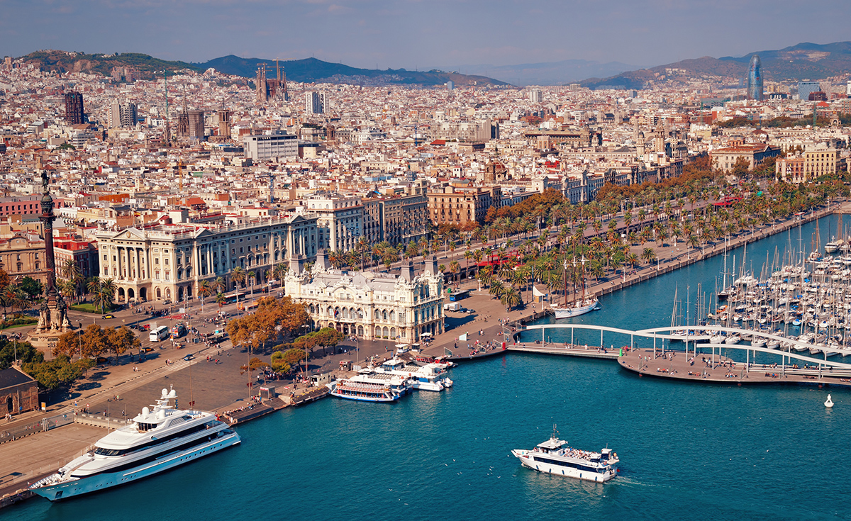 Barcelona-view-from-sea