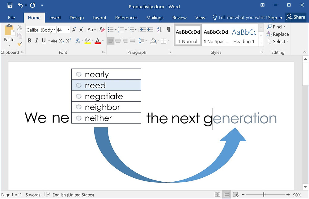 Text Prediction - from Annoying to Productive - Lightkey is a free predictive typing / text prediction / auto-complete / word prediction / spelling correction desktop application for Word, Outlook, PowerPoint, Gmail, WhatsApp Web and more in Microsoft Windows, supporting more than 80 prediction languages.